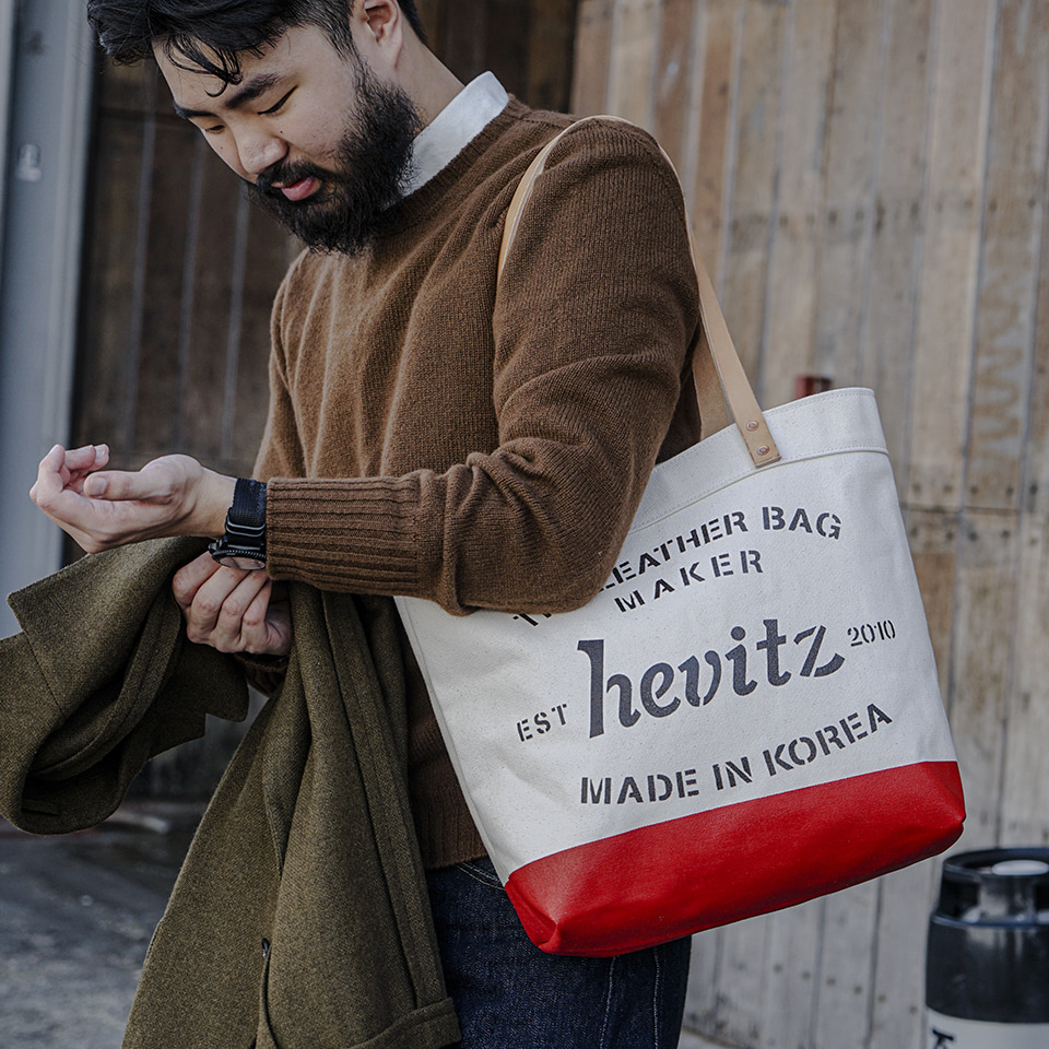 가죽공방 헤비츠 : Hevitz [Video] hevitz Hand-Painted Canvas Bag V.1 making film